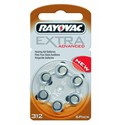 Piles Auditives RAYOVAC A312- 10 plaquettes