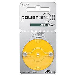 Piles rechargeables PowerOne p10 ACCU plus - paquet de 2 batter