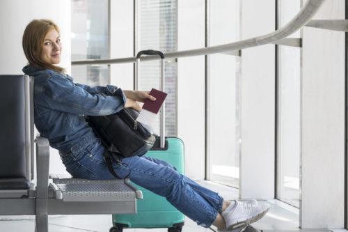 femme aeroport